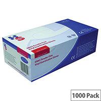 Disposable Powder Free Vinyl Examination Gloves Clear XL Pack 10x100 Handsafe