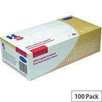 Disposable Powdered Vinyl Examination Gloves Clear Medium Pack of 100 Handsafe GN52