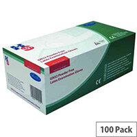 Disposable Powder-Free Latex Examination Gloves Natural Medium Pack of 100 Handsafe GN32