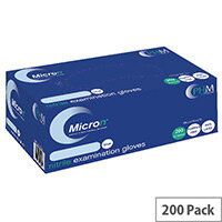 Disposable Powder-Free Nitrile Gloves Blue Large Box of 200 Handsafe GN90