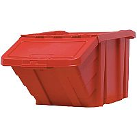 Heavy Duty Storage Bin with Lid Red 369045 124473