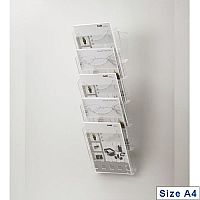 Helit Wall-Mounted 5-Pocket A4 Literature Display H61031