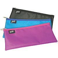 Helix Nylon Pencil Case 200x100mm Assorted Pack of 12 Q65040