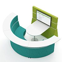 HIVE Semi-Circular Meeting Pod With Worktop