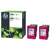 HP300XL Tri-Colour Ink Cartridgeg Twin Pack CMY D8J44AE