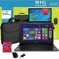 "HP 250 G4 Pentium N3700 Win 10 Home 64-bit 4GB RAM 500GB HDD DVD 15.6"" HD Screen + FREE ACCESSORIES"