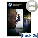 HP 10x15cm Advanced Glossy Photo Paper 250gsm (Pack of 25)