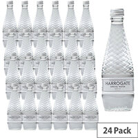 Harrogate Spring Glass Bottled Water Sparkling 330ml Pack of 24