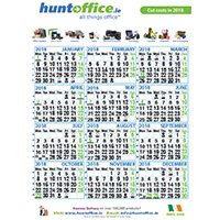 2018 HuntOffice Wall Calendar