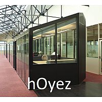 hOyez H9 Relocatable Partitioning With Cover-Trims For Uncommon Planning Flexibility & High Acoustic Performance.