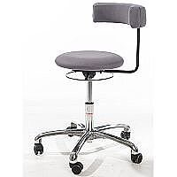 Saturn Ergonomic Stool With 360° Swivel Back-Arm Rest Imitation Leather Grey H400 - 530mm