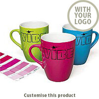 Pantone Matched Marrow Colourcoat Branded Promotional Mug - Customise with your brand, logo or promo text