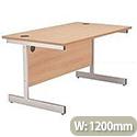Jemini 1200mm Cantilever Rectangular Desk Beech KF838075
