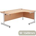 Jemini 1600mm Right-Hand Cantilever Radial Desk Beech KF838048