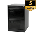 2 drawers flush front cabinet