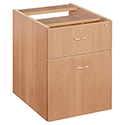Jemini 2-Drawer Fixed Pedestal Beech KF72075