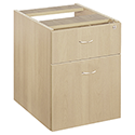 Jemini 2-Drawer Fixed Pedestal Maple KF72077