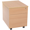 Jemini Intro 2-Drawer Mobile Pedestal Bavarian Beech