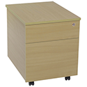 Jemini Intro 2-Drawer Mobile Pedestal Ferrera Oak