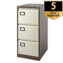 3-Drawer Filing Cabinet Coffee & Cream Jemini By Bisley