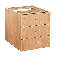Jemini 3-Drawer Fixed Pedestal Beech KF72078