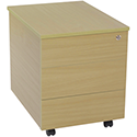 Jemini Intro 3-Drawer Mobile Pedestal Ferrera Oak