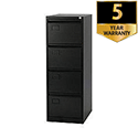 4-Drawer Filing Cabinet Black Jemini By Bisley