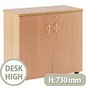 Jemini 730mm Desk High Cupboard 1 Shelf Beech KF838424