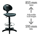 Jemini Factory Chair Black