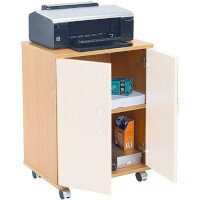 Jemini Intro Mobile PC Printer Stand Beech Supplied Without Doors - Available to Purchase Separately KF97101