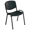 Jemini Multi-Purpose Polypropylene Stacking Chair Black KF72369