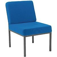 Jemini Fabric Upholstered Reception Chair Blue KF04011