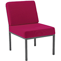 Jemini Fabric Upholstered Reception Chair Claret KF03591
