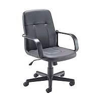 Jemini Trent Budget Black Leather-Look Executive Office Chair KF73635