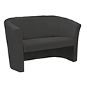 Avior Fabric Upholstered Tub Sofa 2 Seater Charcoal KF03525