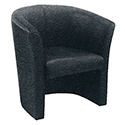 Avior Tub Fabric Chair Charcoal KF03522