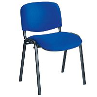 Jemini Ultra Multi-Purpose Stacking Chair Black Legs/Blue KF03343