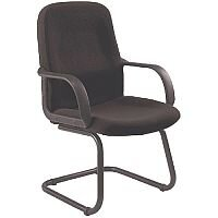 Jemini Visitor Cantilever Leg Chair With Arms Charcoal KF03425