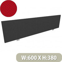 Jump Office Desk Screen Straight Top W600xH380mm Red