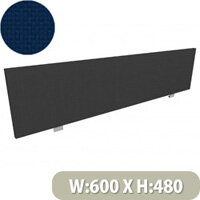 Jump Office Desk Screen Straight Top W600xH480mm Dark Blue