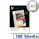 HP Q6594A Professional A3 Inkjet Paper Matt 120gsm 100 Sheets