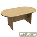 Boardroom Table D-End Panel Leg W1800xD1000xH725mm Oak
