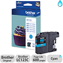 Brother LC-123C Cyan Inkjet Cartridge LC123C