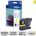 Brother LC-123Y Yellow Inkjet Cartridge LC123Y