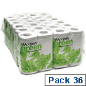 White Toilet Roll 2 Ply Pack 36 Maxima Green Toilet Paper Rolls