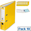 Concord Foolscap Yellow Lever Arch File Pack 10