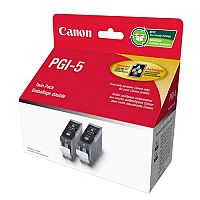 Canon PGI-5 PGBK ( 0628B030 ) Pigment Black Ink Cartridge Original Pack of 2