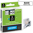 Dymo D1 Tape 45013 12mm x 7m Black on White S0720530