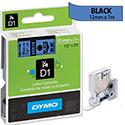 Dymo D1 Tape 45016 12mm x 7m Black on Blue S0720560