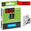 Dymo D1 Tape 45017 12mm x 7m Black on Red S0720570